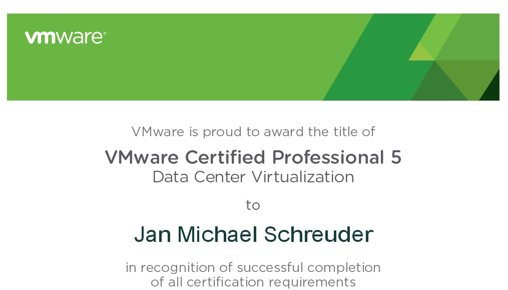 Vcp 5 exam experience michaelschreuder and i passed if i had to sum up the vcp 5 exam in a single sentence that would bechallenging but i really really enjoyed it malvernweather Choice Image